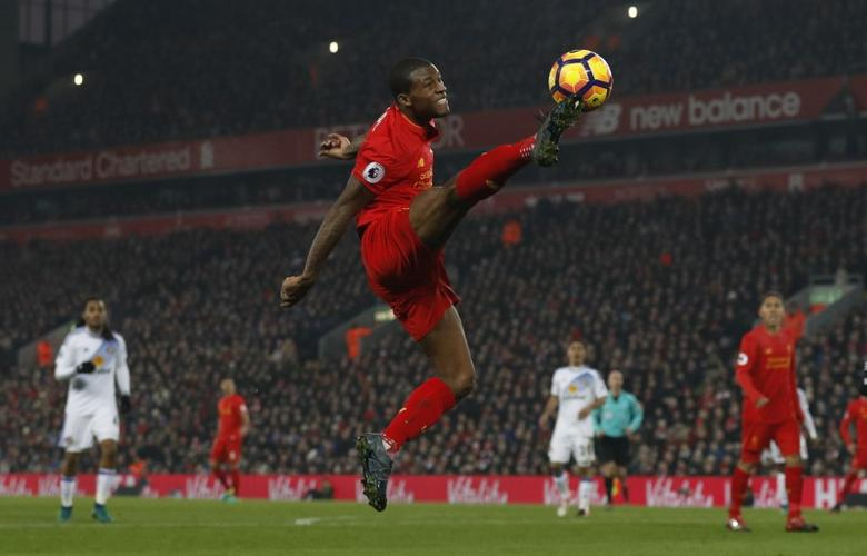 Football Soccer Britain - Liverpool v Sunderland - Premier League - Anfield - 26/11/16 Liverpool's Joel Matip in action  Reuters / Phil Noble