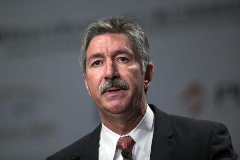 Mario Longhi, of U.S. Steel speaks during the Steel Success Strategies conference in New York, June 18, 2013. REUTERS/Lucas Jackson