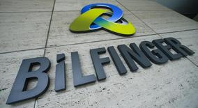 The logo of German industrial services provider Bilfinger is pictured at its headquarters in Mannheim, Germany, May 11, 2016.    REUTERS/Ralph Orlowski