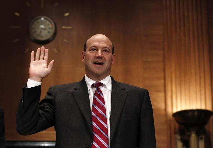 Goldman Sachs President and Chief Operating Officer Gary Cohn is sworn in before testifying before the Financial Crisis Inquiry Commission (FCIC) on Capitol Hill in Washington, June 30, 2010.  REUTERS/Jim Young/Files