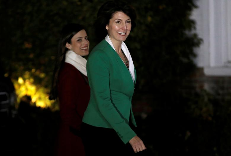 U.S. Representative Cathy McMorris Rodgers arrives for her meeting with U.S. President-elect Donald Trump at Trump National Golf Club in Bedminster, New Jersey, U.S., November 20, 2016.  REUTERS/Mike Segar