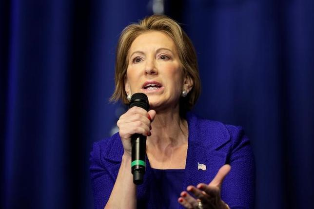 Former Republican presidential candidate Carly Fiorina addresses the Faith and Freedom Coalition's ''Road To Majority'' conference in Washington, U.S., June 10, 2016. REUTERS/Joshua Roberts/Files