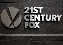 The 21st Century Fox  logo is seen outside the News Corporation headquarters in Manhattan, New York, U.S., April 29, 2016.  REUTERS/Brendan McDermid