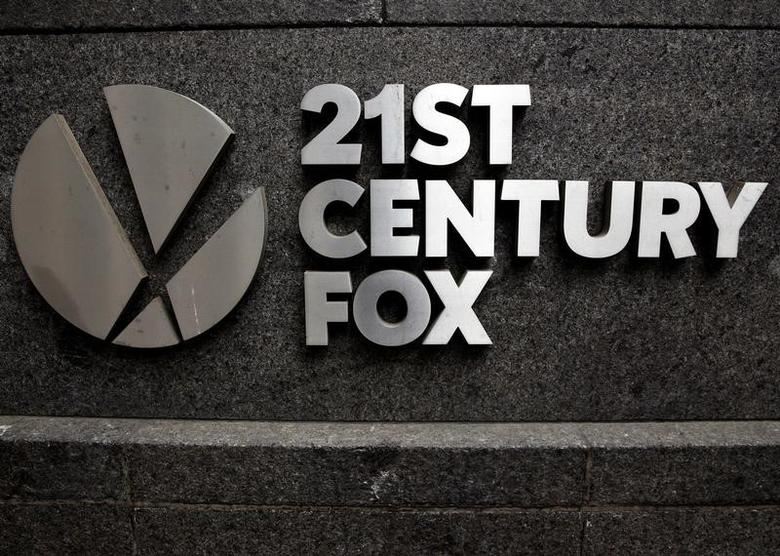 The 21st Century Fox  logo is seen outside the News Corporation headquarters in Manhattan, New York, U.S., April 29, 2016.  REUTERS/Brendan McDermid