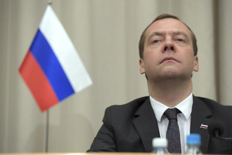 Russian Prime Minister Dmitry Medvedev is seen during his joint news conference with his Finnish counterpart Juha Sipila (not in picture) after their meeting in Oulu, Finland December 9, 2016. Lehtikuva/Antti Aimo-Koivisto via REUTERS