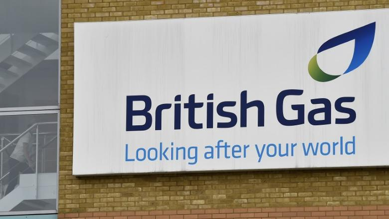 A British Gas sign is seen at its offices in Staines in southern England, July 31, 2014. REUTERS/Toby Melville