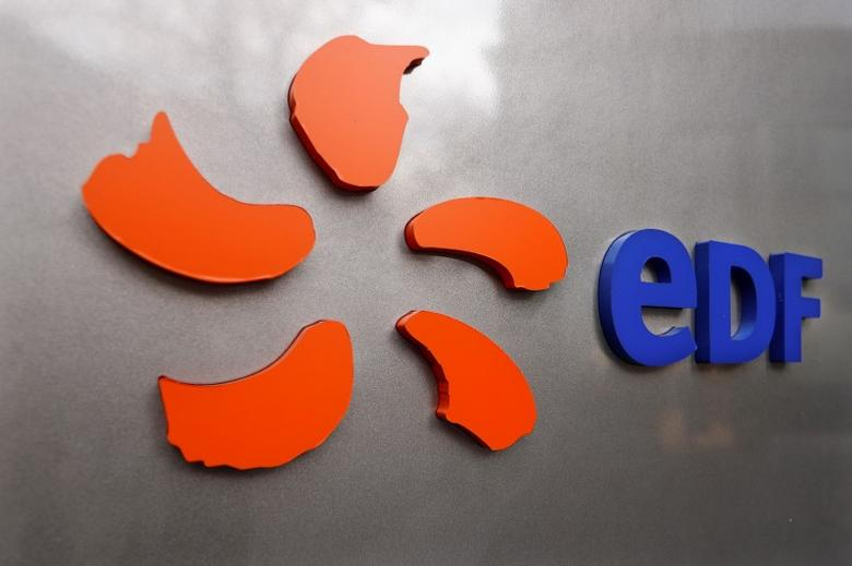 The logo of France's state-owned electricity company EDF is seen on the company's headquarters in Paris, France, November 24, 2016.  REUTERS/Charles Platiau