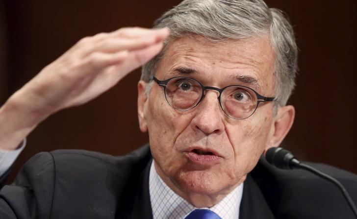 Federal Communications Commission (FCC) Chairman Tom Wheeler testifies before a Senate Appropriations Subcommittee hearing on Capitol Hill in Washington May 12, 2015.   REUTERS/Jonathan Ernst/File Photo
