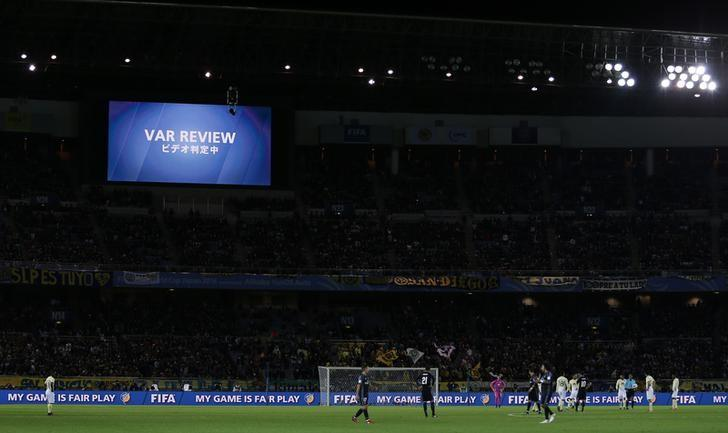 Soccer Football - Club America v Real Madrid - FIFA Club World Cup Semi Final - International Stadium Yokohama - 15/12/16 General view as a decision is referred to the video review  Reuters / Issei Kato Livepic