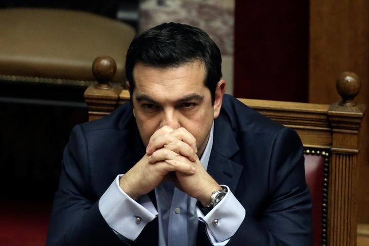 Greek Prime Minister Alexis Tsipras attends a parliamentary session before a budget vote in Athens, Greece, December 10, 2016. REUTERS/Alkis Konstantinidis/Files