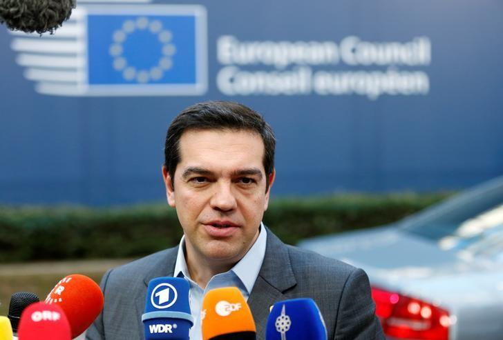 Greece's Prime Minister Alexis Tsipras arrives at a European Union leaders summit in Brussels, Belgium, December 15, 2016. REUTERS/Francois Lenoir