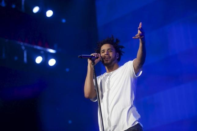 J. Cole performs during the fourth annual Made in America Music Festival in Philadelphia, Pennsylvania September 6, 2015. REUTERS/Mark Makela