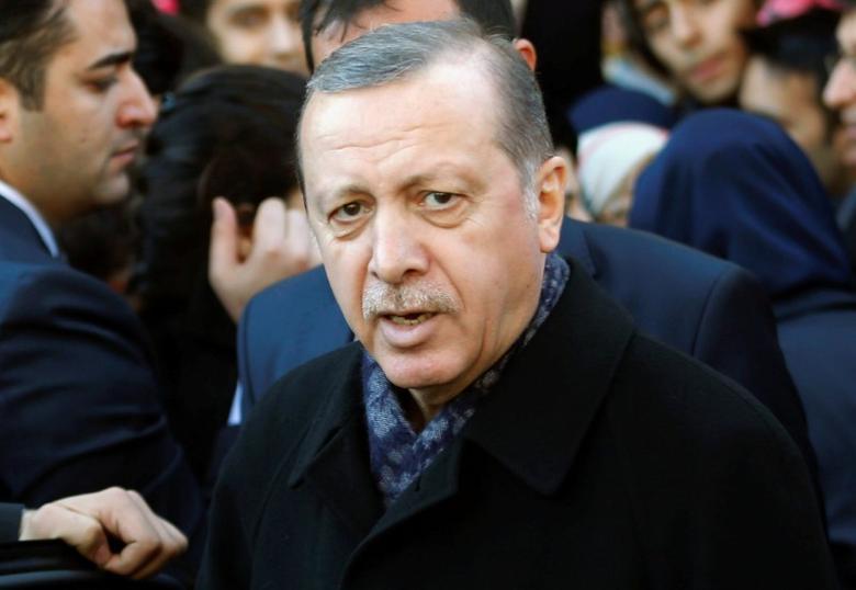 Turkish President Tayyip Erdogan leaves Eyup Sultan mosque in Istanbul, Turkey, December 11, 2016. REUTERS/Murad Sezer