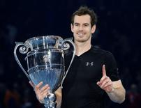 Tennis Britain - Barclays ATP World Tour Finals - O2 Arena, London - 20/11/16 Great Britain's Andy Murray celebrates with the Year-End No. 1 Trophy Action Images via Reuters / Paul Childs