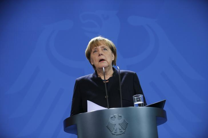 German Chancellor Angela Merkel addresses the media in Berlin, Germany, December 20, 2016, one day after a truck ploughed into a crowded Christmas market in the German capital.      REUTERS/Hannibal Hanschke