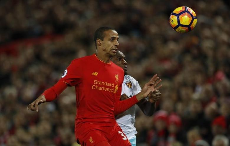 Football Soccer Britain - Liverpool v West Ham United - Premier League - Anfield - 11/12/16 Liverpool's Joel Matip in action during the match Action Images via Reuters / Lee Smith Livepic