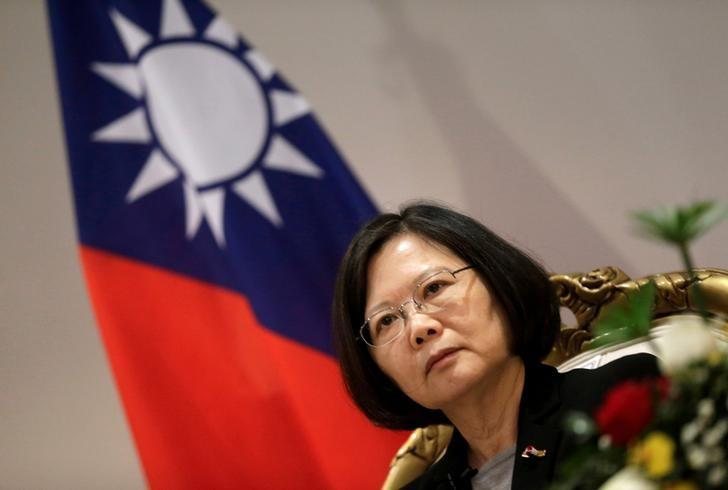 Taiwan's President Tsai Ing-wen speaks during an interview in Luque, Paraguay, June 28, 2016. REUTERS/Jorge Adorno/Files