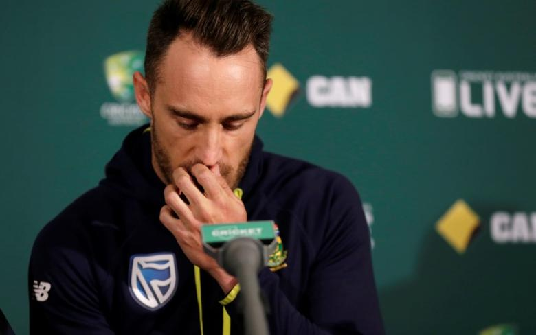 Cricket - Australia v South Africa - Third Test cricket match - Adelaide Oval, Adelaide, Australia - 23/11/16. South Africa's cricket captain Faf du Plessis at a news conference before the third cricket test against Australia in Adelaide.    REUTERS/Jason Reed/File Photo