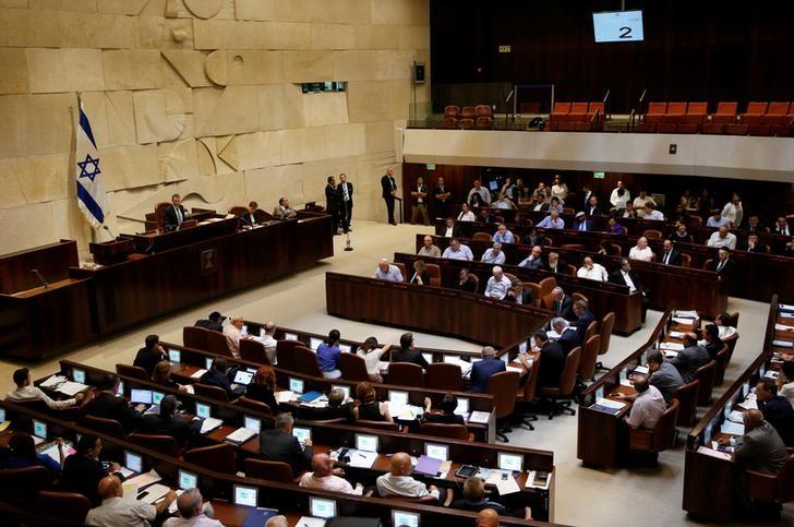 A general view shows the plenum during a session at the Knesset, the Israeli parliament, in Jerusalem July 11, 2016. REUTERS/Ronen Zvulun/File Photo