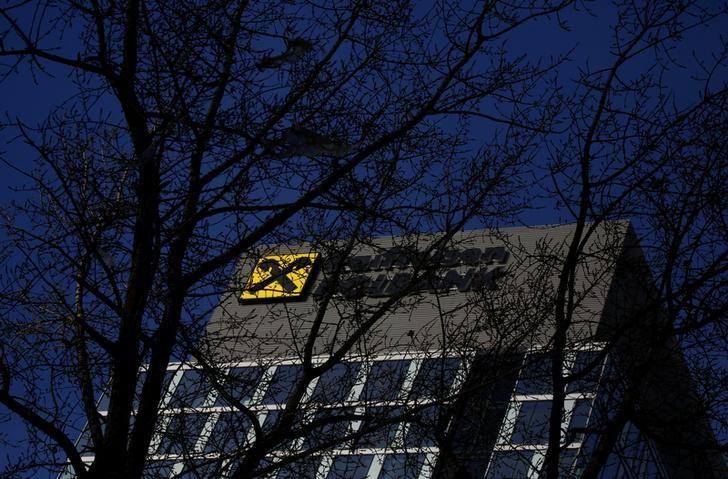 Raiffeisen Polbank's bank logo is pictured on their headquarters in Warsaw Poland, November 26, 2016.  REUTERS/Kacper Pempel/Files