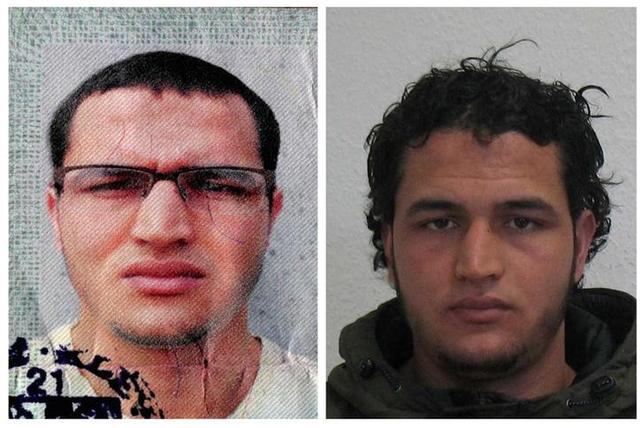 Handout pictures released on December 21, 2016 and acquired from the web site of the German Bundeskriminalamt (BKA) Federal Crime Office show suspect Anis Amri searched in relation with the Monday's truck attack on a Christmas market in Berlin.   REUTERS/BKA/Handout via Reuters