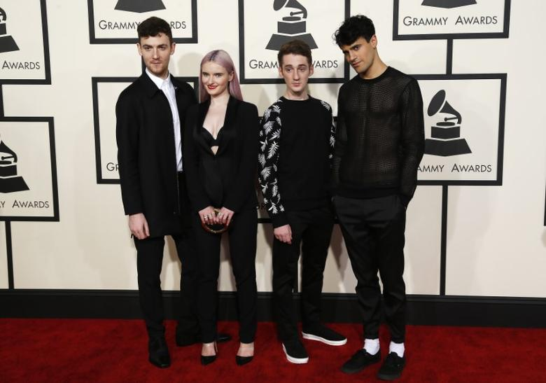 Musical Group Clean Bandit arrives at the 57th annual Grammy Awards in Los Angeles, California February 8, 2015.  REUTERS/Mario Anzuoni