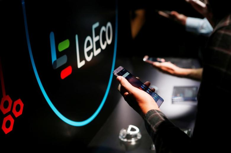LeEco's new Le Pro3 phone is on display during a press event in San Francisco, California, U.S. October 19, 2016.  RETUERS/Beck Diefenbach/Files
