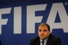 CONCACAF President Victor Montagliani attends a news conference at the Guatemala Soccer Federation in Guatemala City, Guatemala, August 30, 2016. REUTERS/Saul Martinez