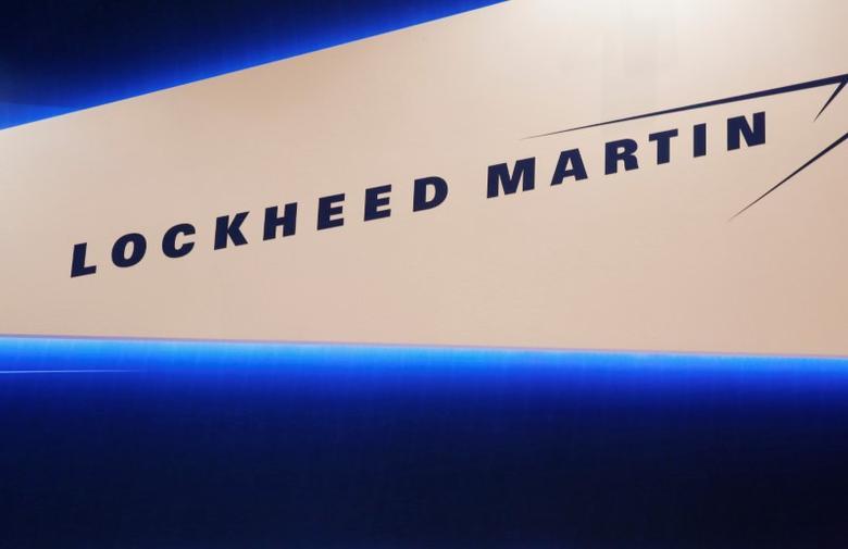 Lockheed Martin's logo is seen during Japan Aerospace 2016 air show in Tokyo, Japan, October 12, 2016.   REUTERS/Kim Kyung-Hoon