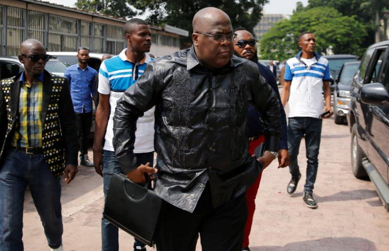 Congolese opposition leader Felix Tshisekedi, a UDPS official and son of veteran opposition figure Etienne Tshisekedi arrives for the talks between the opposition and government of President Joseph Kabila mediated by Congo's Roman Catholic bishops in the Democratic Republic of Congo's capital Kinshasa, December 21, 2016. REUTERS/Thomas Mukoya