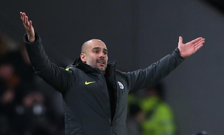Britain Soccer Football - Hull City v Manchester City - Premier League - The Kingston Communications Stadium - 26/12/16 Manchester City manager Pep Guardiola  Reuters / Scott Heppell Livepic
