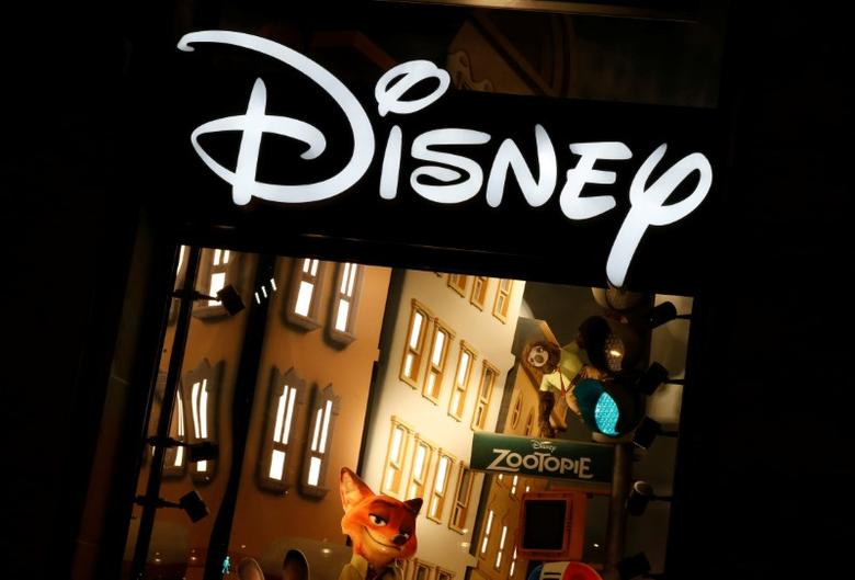 The logo of the Disney store on the Champs Elysee is seen in Paris, France, March 3, 2016.   REUTERS/Jacky Naegelen/File Photo