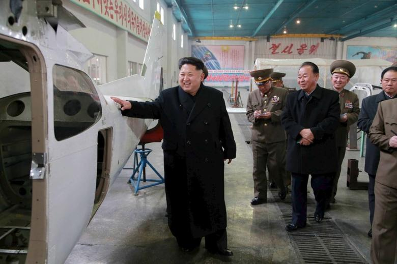 North Korean leader Kim Jong Un gave field guidance to the machine plant managed by Jon Tong Ryol in this undated photo released by North Korea's Korean Central News Agency (KCNA) in Pyongyang April 1, 2015. REUTERS/KCNA