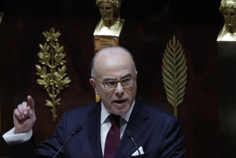 French Prime Minister Bernard Cazeneuve delivers a speech outlining his new government program at the National Assembly in Paris, France, December 13, 2016. REUTERS/Philippe Wojazer
