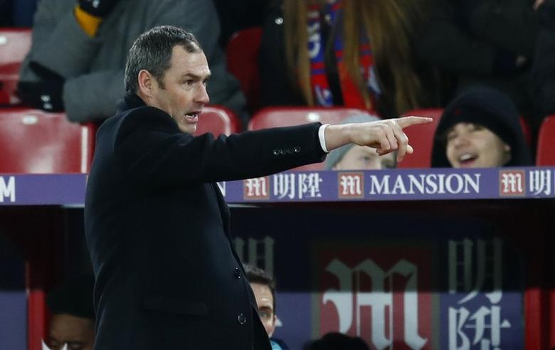 Britain Football Soccer - Crystal Palace v Swansea City - Premier League - Selhurst Park - 3/1/17 New Swansea City manager Paul Clement  Reuters / Eddie Keogh Livepic