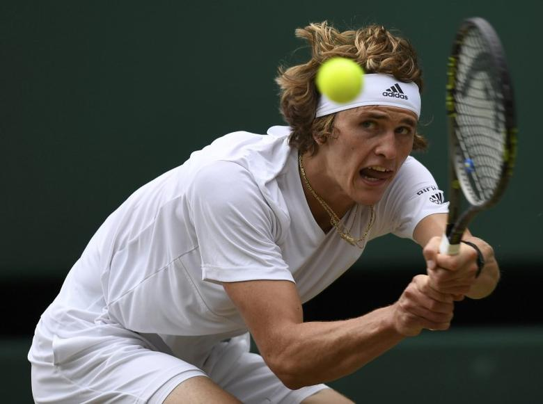Germany's Alexander Zverev in action against Czech Republic's Tomas Berdych REUTERS/Tony O'Brien