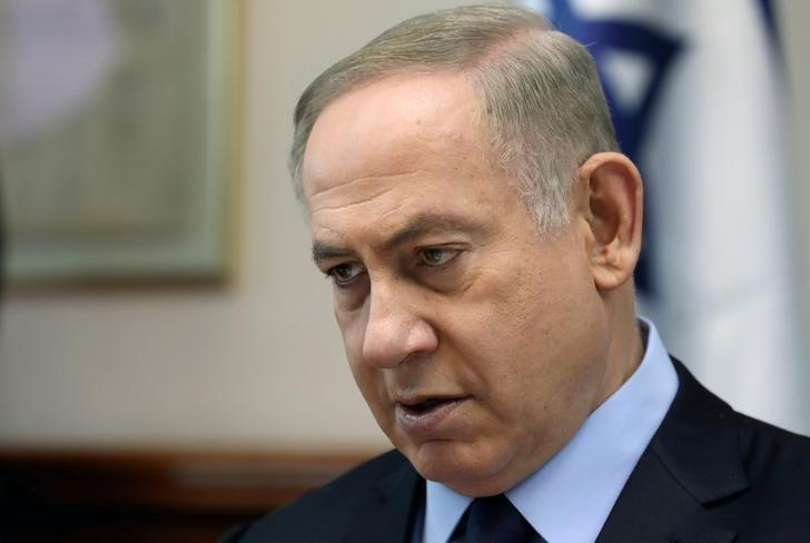Israeli Prime Minister Benjamin Netanyahu chairs the weekly cabinet meeting in Jerusalem January 1, 2017. REUTERS/Gali Tibbon/Pool