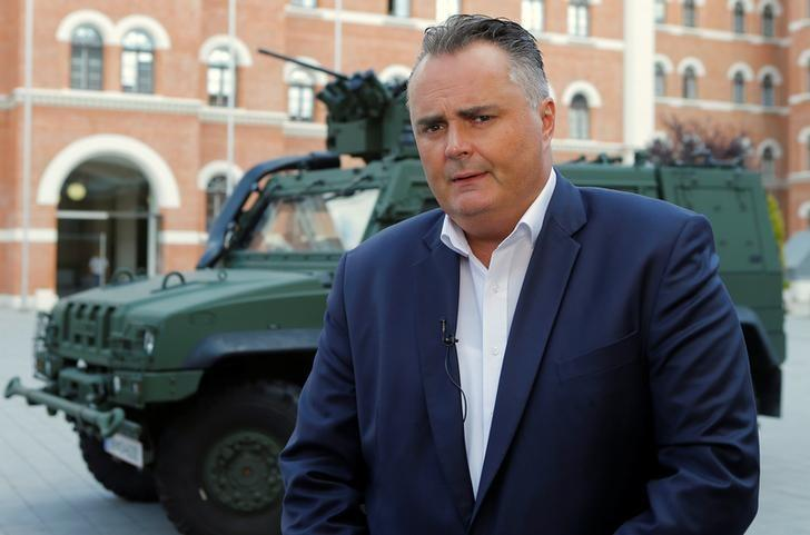 Austrian Defence Minister Hans Peter Doskozil talks during a Reuters interview in Vienna, Austria, August 30, 2016. Picture taken August 30, 2016. REUTERS/Heinz-Peter Bader
