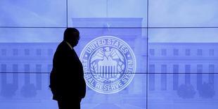 Charles Evans, le président de la Réserve fédérale de Chicago plutôt connu pour ses positions accommodantes en matière de politique monétaire, a déclaré vendredi que la banque centrale américaine pouvait relever ses taux d'intérêt à trois reprises cette année si les statistiques économiques à venir se révèlent meilleures que prévu. /Photo d'archives/REUTERS/Kevin Lamarque