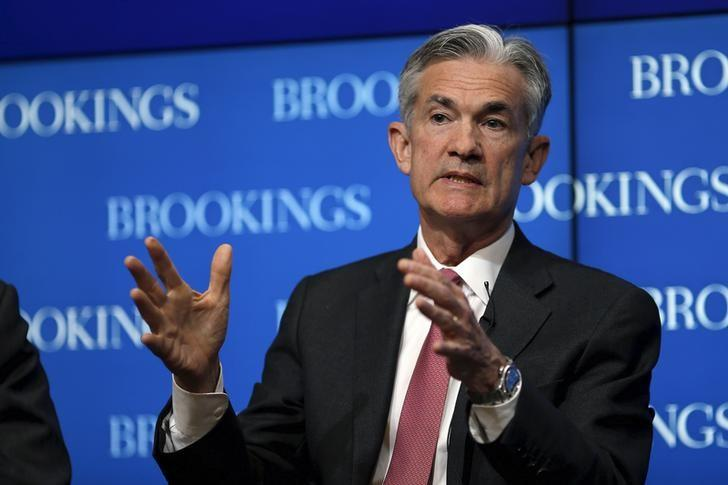 Federal Reserve Governor Jerome Powell delivers remarks during a conference at the Brookings Institution in Washington August 3, 2015. REUTERS/Carlos Barria/Files