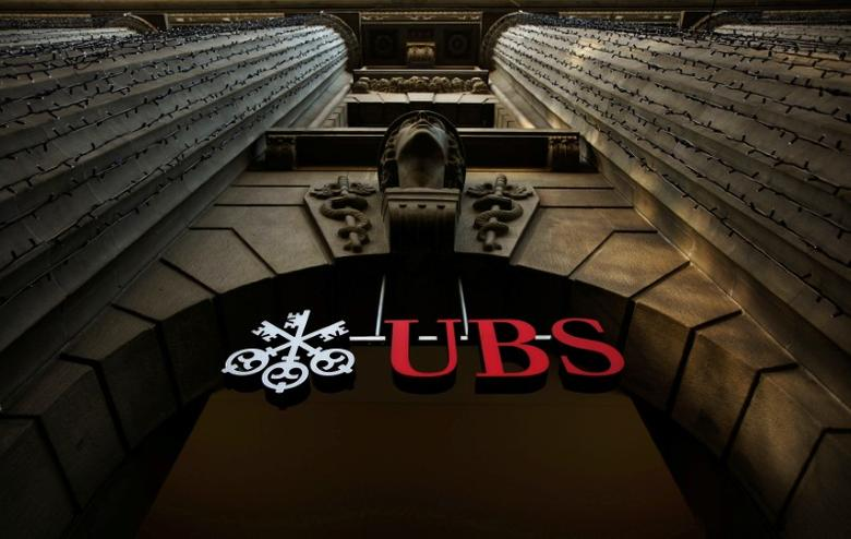 The logo of Swiss bank UBS is seen on a building in Zurich, Switzerland December 19, 2012.  REUTERS/Michael Buholzer