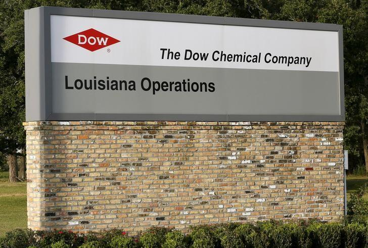 A sign is seen at an entrance to a Dow Chemical Co plant in Plaquemine, Louisiana December 12, 2015.  REUTERS/Jonathan Bachman/File Photo