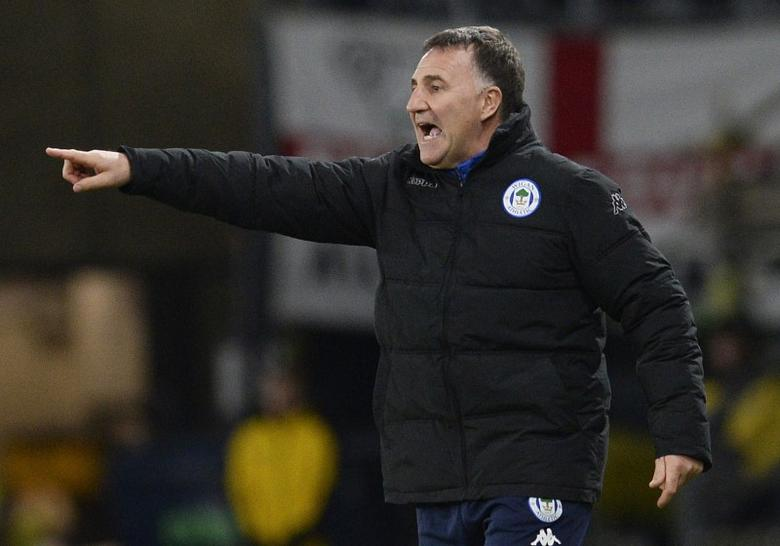 Britain Football Soccer - Derby County v Wigan Athletic - Sky Bet Championship - iPro Stadium - 31/12/16 Wigan manager Warren Joyce  Mandatory Credit: Action Images / Alan Walter Livepic