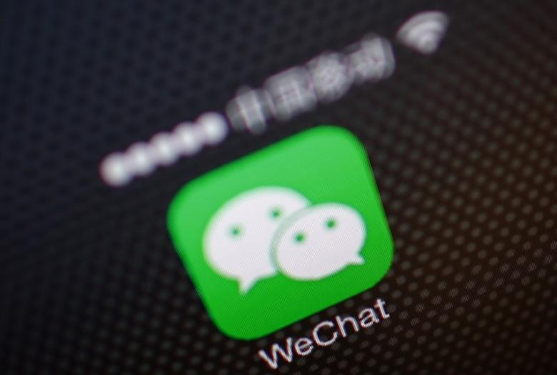 A picture illustration shows a WeChat app icon in Beijing, December 5, 2013.  REUTERS/Petar Kujundzic/Files