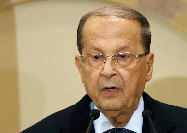 Michel Aoun talks during a news conference in Beirut, Lebanon October 20, 2016. REUTERS/Mohamed Azakir/Files