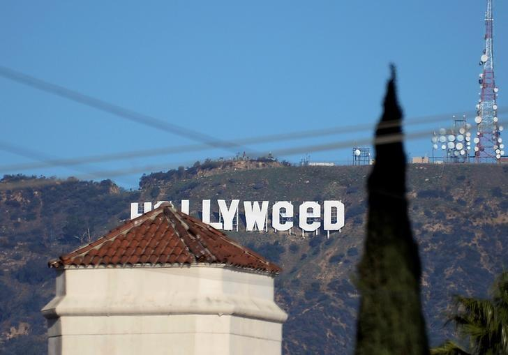 A view shows the ''iconic ''Hollywood'' sign overlooking Southern California's film-and-television hub, which was defaced overnight in the Hollywood Hills in Los Angeles, California, U.S. January 1, 2017.  REUTERS/Kevork Djansezian