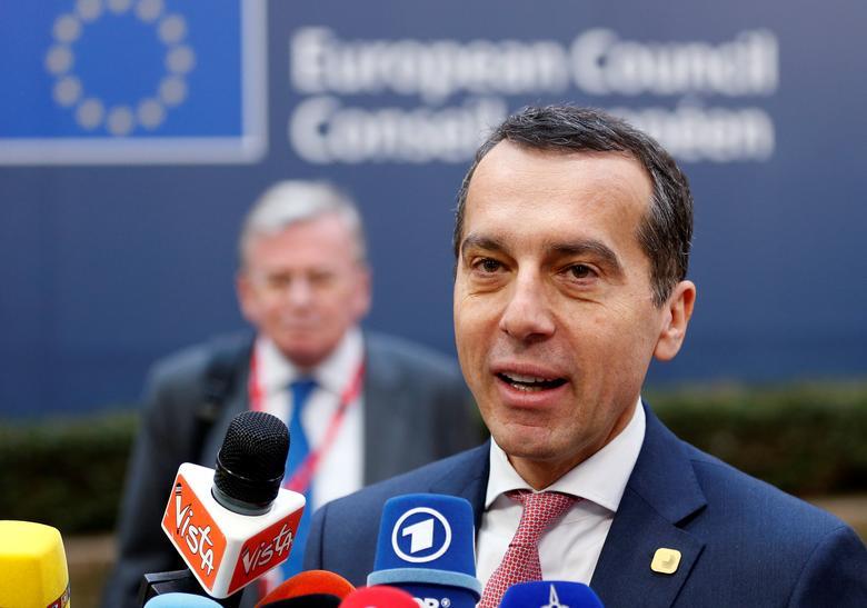 Austria's Chancellor Christian Kern arrives at a European Union leaders summit in Brussels, Belgium, December 15, 2016. REUTERS/Francois Lenoir
