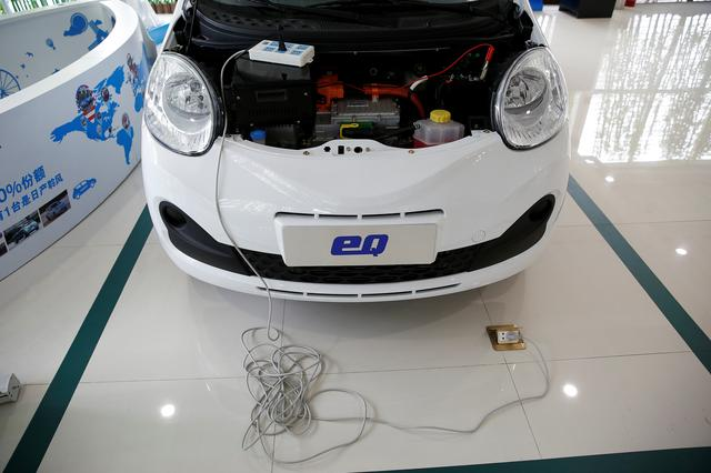 A Chery EQ electric car is displayed at a electric car dealership in Shanghai, China, January 11, 2017. REUTERS/Aly Song