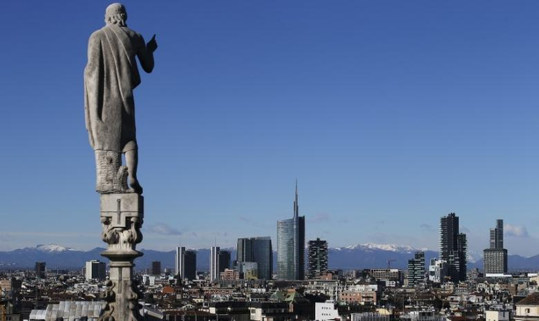 The skyline of Porta Nuova's district is seen in Milan, northern Italy March 5, 2015. REUTERS/Stefano Rellandini