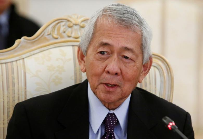 FILE PHOTO: Philippine Foreign Minister Perfecto Yasay speaks during a meeting in Moscow, Russia, December 5, 2016. REUTERS/Sergei Karpukhin/File Photo - RTX2YF9G